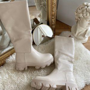 bottes beige hautes